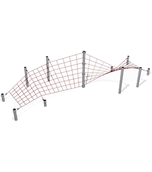CORKSCREW PLAY NET WITH STEEL POSTS