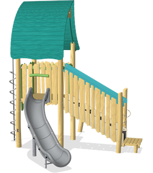 PLAY TOWER WITH SLIDE & CURLY CLIMBER ADA