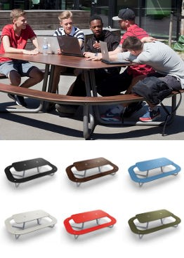 Tough yet stylish picnic tables